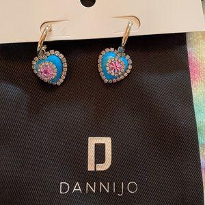 Dannijo evita heart earrings